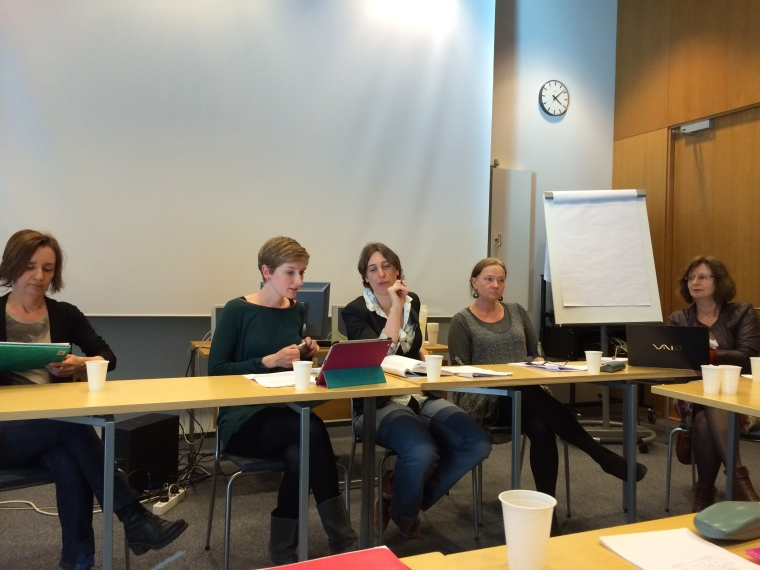 Paper pannel during the Expert Meeting